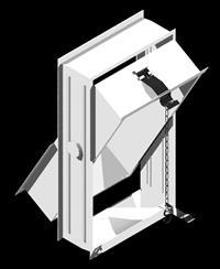 Открывающая рама на 2 стеклоблока