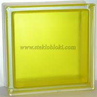 Стеклоблок Vitrablok окрашенный внутри арктика желтый